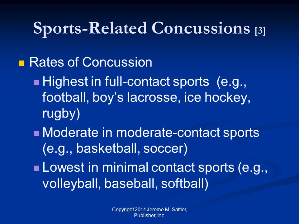 Sports-Related Concussions [3]